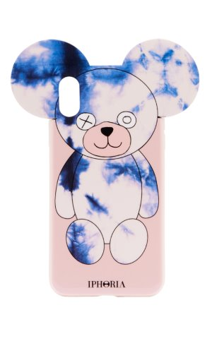 IPHORIA[X/XS]Teddy Case Batik Blue Nude