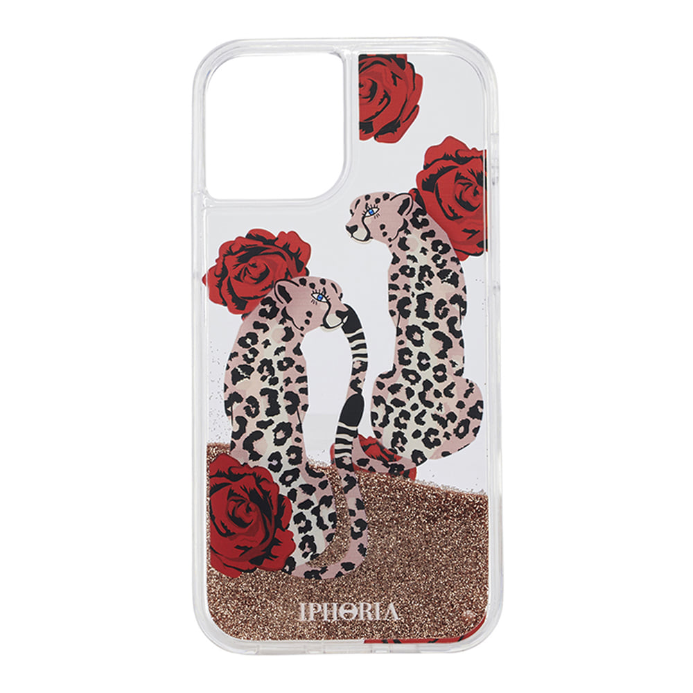 LEOPARDS WITH ROSES LIQUID iPhone 12 PRO MAX CASE