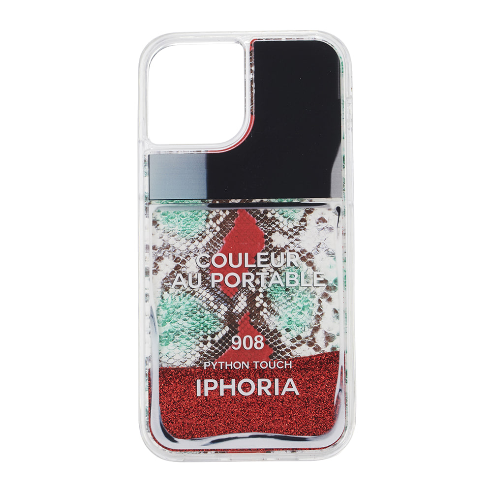 RED SNAKE CLASSIC NAILPOLISH LIQUID iPhone 12 PRO/12 CASE